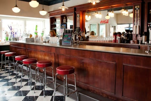 Chairs by Richardson Seating Corporation seen at Clinton's Soda Fountain, Independence - Bar Stool - 1950