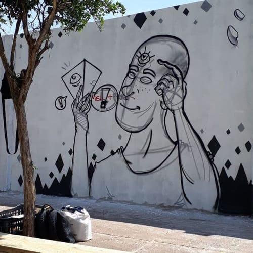 Street Murals by Frank Paris seen at Londrina, Londrina - Street art Murals