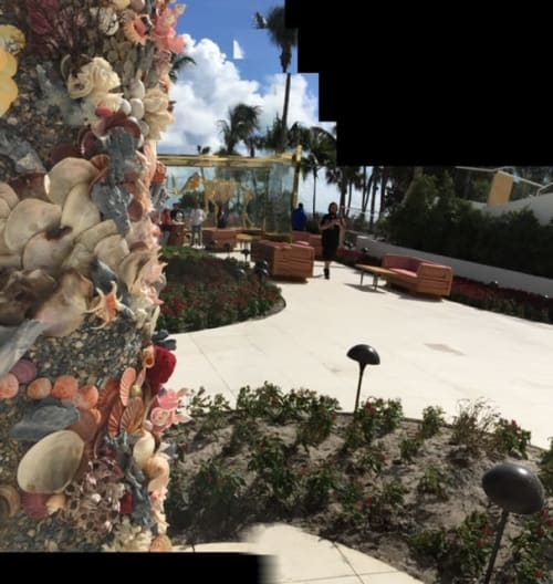 Art & Wall Decor by Christa Wilm seen at Faena Hotel Miami Beach, Miami Beach - Seashell columns