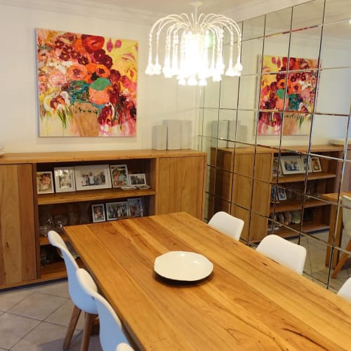 Paintings by Kerry Bruce seen at Private Residence, Kiama - Commissioned Floral Painting