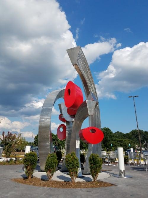 Public Sculptures by CJRDesign at Regency Center Chantlily, Chantilly - Serendipity