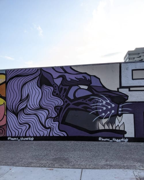 Street Murals by BAMR the Artist seen at St. Rose of Lima Park ( 9th & K ), Sacramento - Street Mural