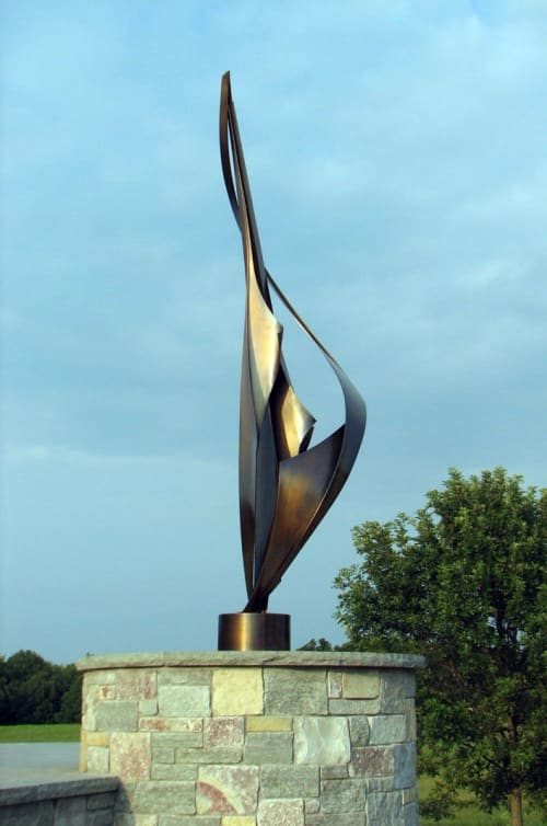 Public Sculptures by Medwedeff Forge and Design seen at Private Residence - Sparling