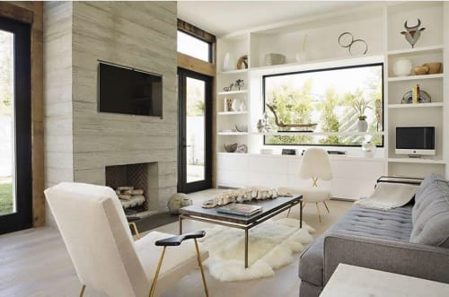 Architecture by Buzzell Studios seen at The Beach House Apartments, Newport Beach - Fireplace
