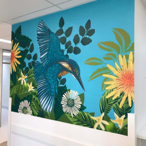 Murals by Flox seen at Starship Foundation, Auckland - Commissioned Mural