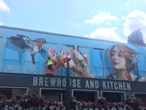 Murals by Tech Moon seen at Bedford, Bedford - Ninkasi
