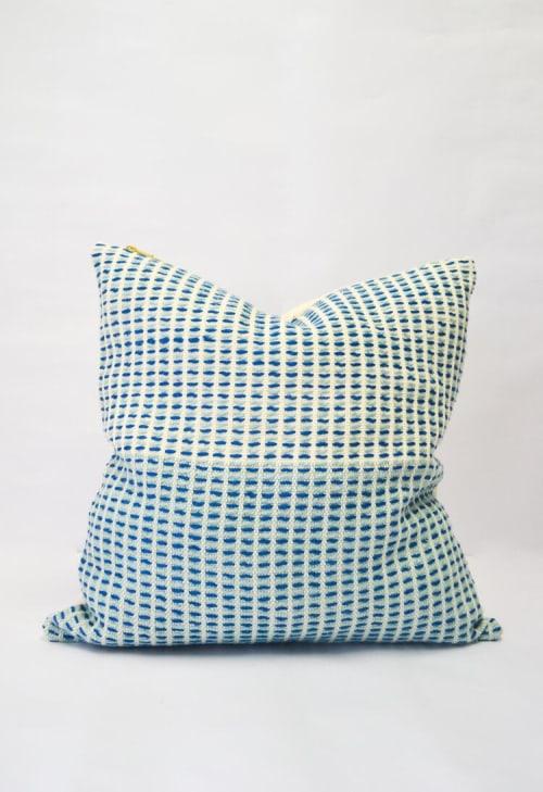 Pillows by Zuahaza by Tatiana - Naidi Blue Pillow