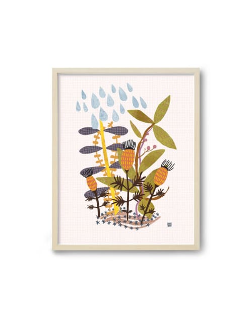 Paintings by Birdsong Prints - Autumn Art Print, Colorful Nursery Art