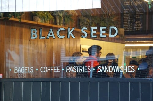 Signage by Noble Signs seen at Black Seed, New York - Black Seed Elizabeth St.