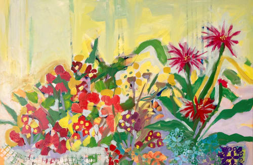 Paintings by Jessica Ruth Freedman seen at Private Residence, Victoria - Primula Prolifera