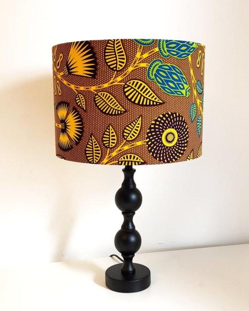 Lamps by MyAnkaralove seen at Private Residence, Ipswich - Custom Wax Print Lampshade