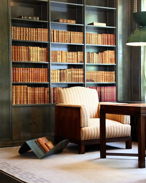 Furniture by Nina Cho seen at Eliel Saarinen House, Bloomfield Hills - Floor storage/Magazine rack