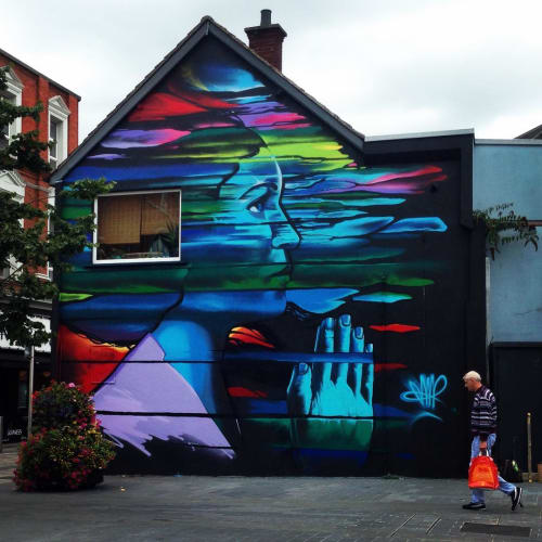 Street Murals by Jonny McKerr (JMK Art) seen at Centre Church Belfast, Belfast - The Whisper And The Wish