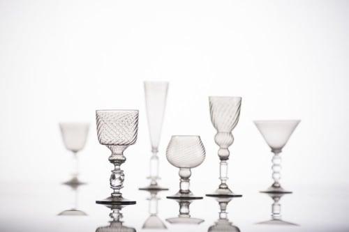 Cups by Kazuki Takizawa / KT Glassworks seen at KT Glassworks, Los Angeles - Stemware
