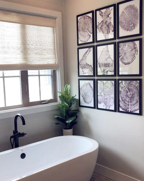Art & Wall Decor by Erik Linton seen at Private Residence, Hyrum - Set of 9 Tree Ring Prints