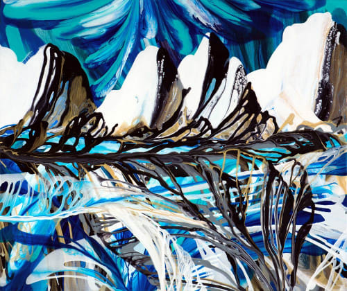 Murals by Terry Kruse seen at Private Residence, Calgary, Calgary - Orca