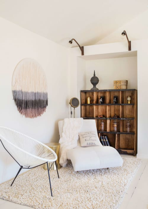Wall Hangings by Lauren Williams seen at The Vintage Round Top, Round Top - Subtle Layers Circular Tapestry