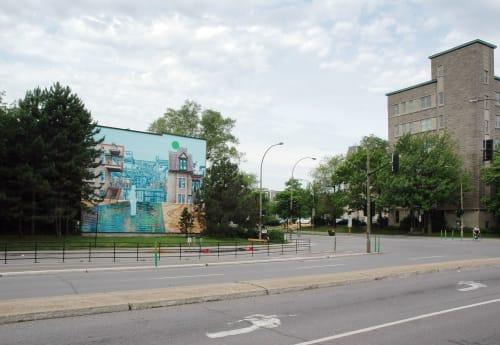 Murals by Rafael Sottolichio seen at Montreal, Montreal - Machine consciente — Conscious Machine