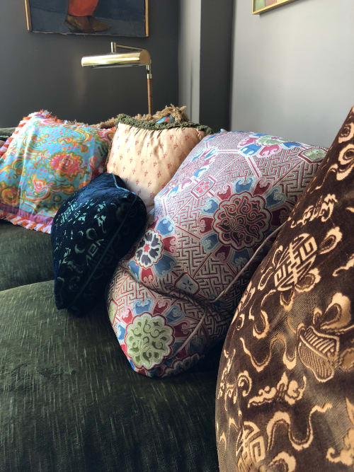Pillows by SAVED New York seen at Private Residence, New York - Peter Nichols