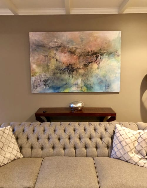 Paintings by The Mink Gallery seen at Horseheads Residence, Horseheads - Pink Landscape