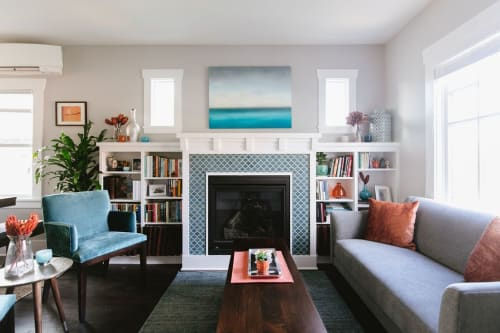 Interior Design by The Phinery Design Studio seen at Private Residence, Seattle, Seattle - Vibrant and Colorful Living Room