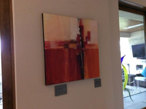 """Paintings by Jan Griggs seen at Private Residence, Denver - """"Crossroads of Here and Now"""" Painting"""
