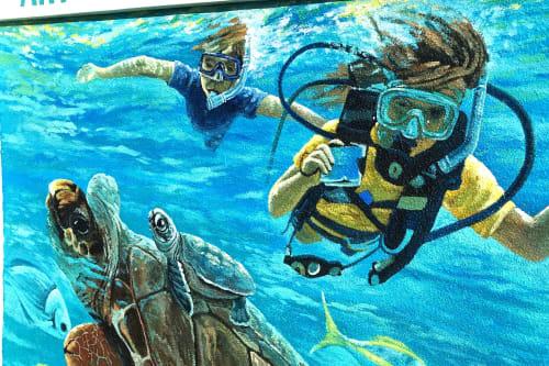 Murals by Murals by Georgeta (Fondos) seen at Red Reef Park, Boca Raton - Public Art Red Reef Parc Mural