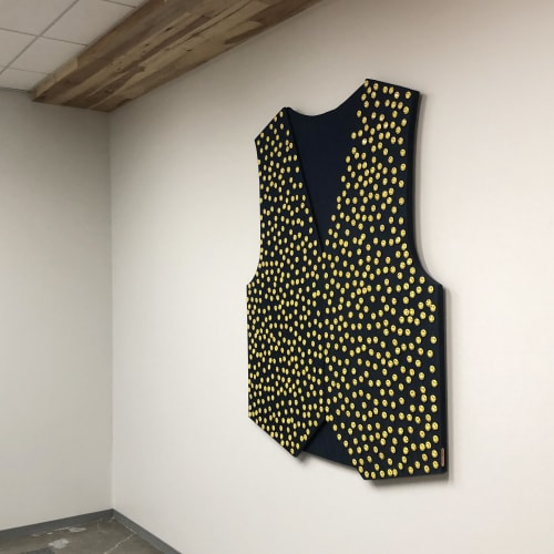 """Sculptures by ANTLRE - Hannah Sitzer seen at Google RWC SEA6, Redwood City - """"Vest"""""""
