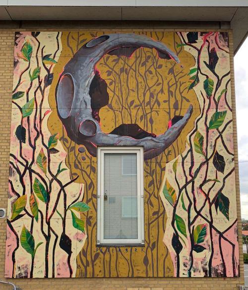 Murals by Peter Birk seen at Building Society Olav de Linde, Aarhus - Wall Mural