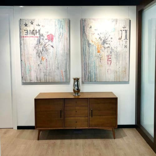"Paintings by Nils Peters seen at Private Residence, Dubai - ""Begin of Autumn and End of Springtime"""