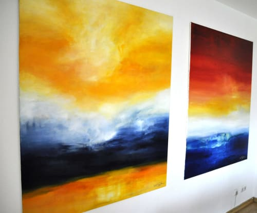 Paintings by CHRISTIAN BAHR seen at Private Residence, Landenberg - LET ME BELIEVE (TRUE AT FIRST LIGHT IV)
