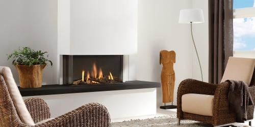 Fireplaces by European Home seen at Private Residence, Boston - Trisore 95 MKII