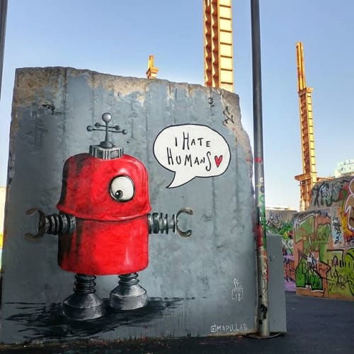 Street Murals by Stefania Gallina - MAPU Lab seen at Turin, Turin - I hate humans - personal Mural