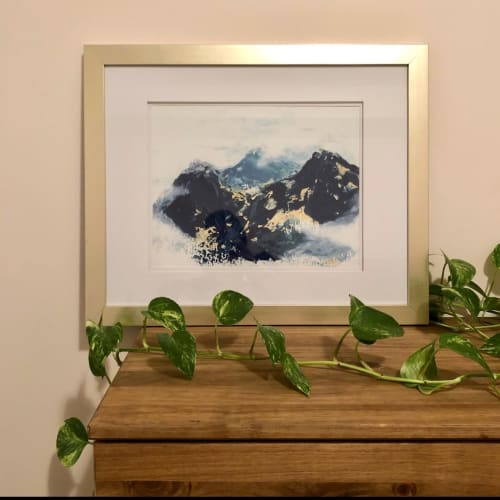 Art & Wall Decor by Melissa Critchlow seen at Private Residence, Calgary - Misty Mountain II