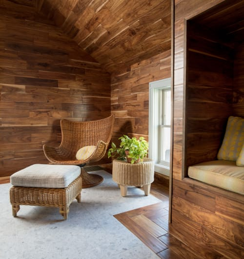 Interior Design by Joyce D. Silverman Interiors seen at Allenhurst Pool House, Allenhurst - Interior Design