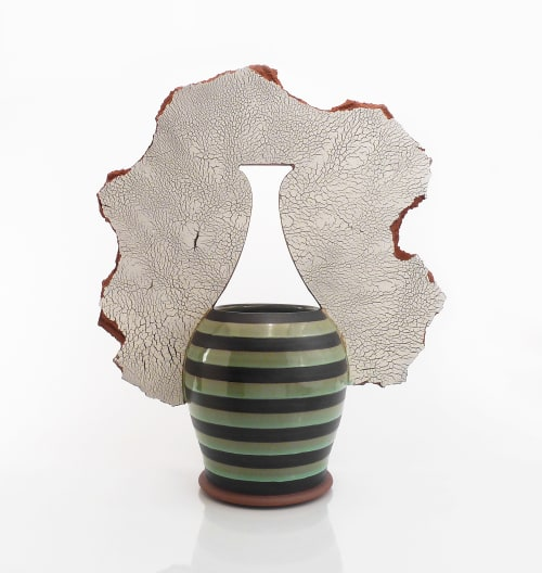 Vases & Vessels by VEpottery at Private Residence, Kalispell - Shard Vase