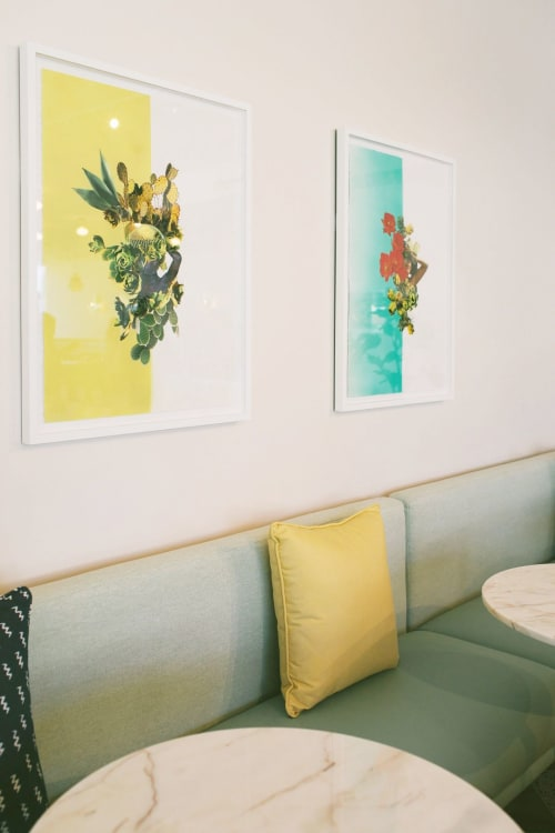 Art & Wall Decor by Yasmine Diaz seen at The Wing, West Hollywood - DESERT COMPOSITION #1 and #2