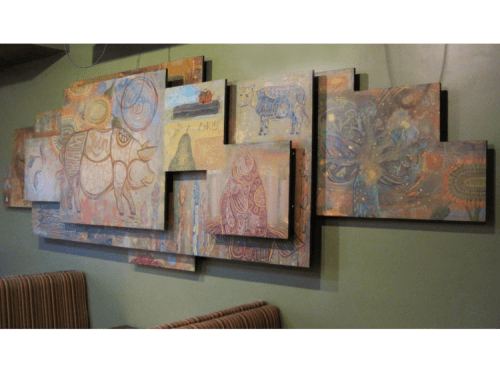 Paintings by Paul Carpenter Art seen at Fork + Flask, Rehoboth Beach - Nage