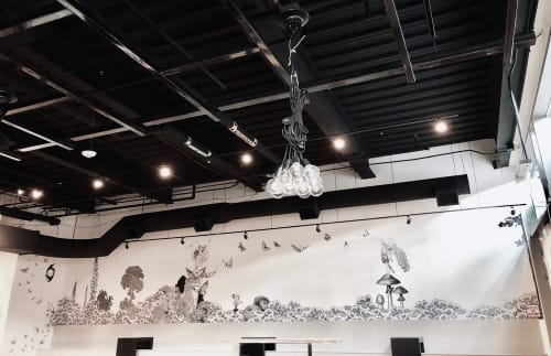 Murals by Made of Hagop at Aviano Coffee Cherry Creek North, Denver - Vespertine