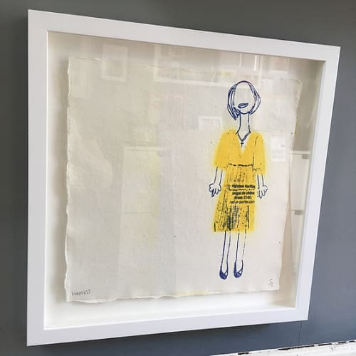 Paintings by Adam Hemuss seen at Private Residence, London - One Girl - Yellow