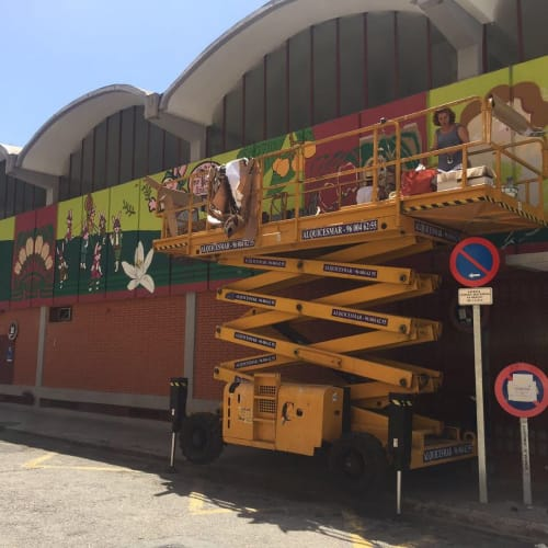 Murals   Murals by Julieta XLF   Mercado Rojas Clemente in València