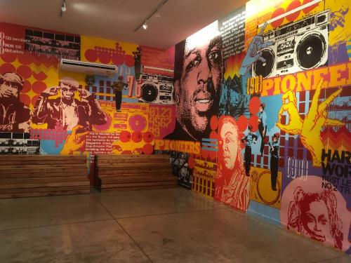 Murals by CABAIO SPIRITO seen at Buenos Aires, Buenos Aires - CCR-Sala 6
