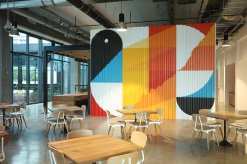 Murals by christopher derek bruno at NCR Global Headquarters, Atlanta - NCR Murals
