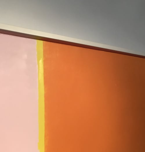 Paintings by Ellen Richman at Private Residence, Minneapolis - Color Series Pink and Orange