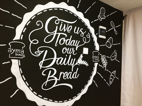 Murals by CHALK THE WORLD seen at Jakarta, Jakarta - Praying Bread