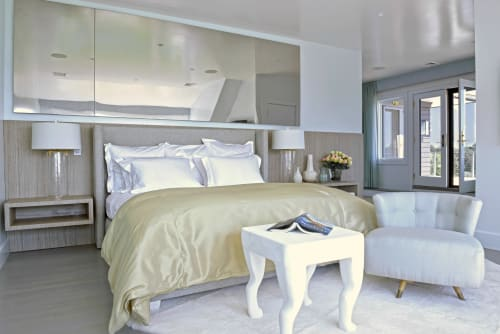 Linens & Bedding by Matouk seen at Private Residence, Water Mill, Water Mill - Linens & Bedding