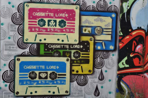 Cassette lord - Paintings and Street Murals
