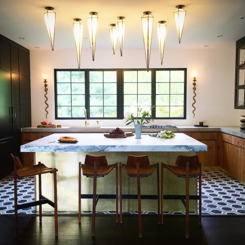 Pendants by Jason Koharik (Collected By) seen at Private Residence, Los Angeles - Geo Stalactite Glass pendants