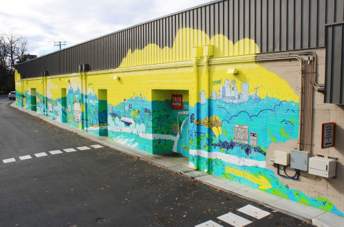 Street Murals by Eleanor Doughty seen at Vienna Shopping Center, Vienna - W&OD Trail: Highway of Community