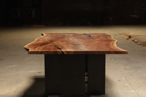 Tables by Steve Tiller seen at Private Residence, Granite Bay - California Black Walnut, Live Edge Table